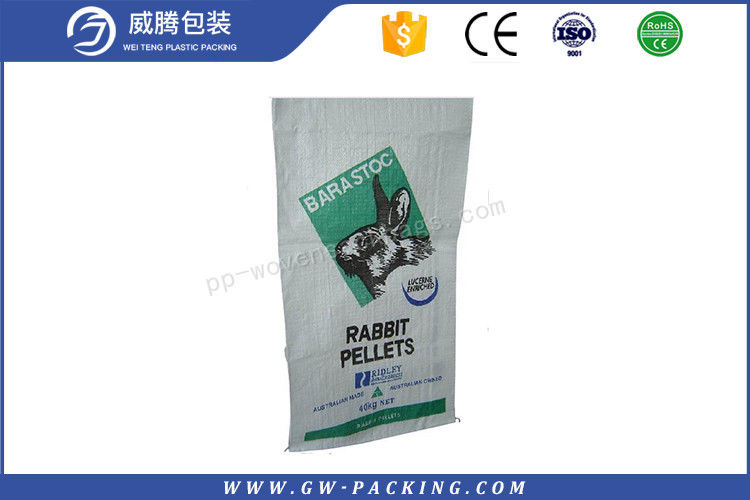 Recyclable 100% Virgin Woven Polypropylene Feed Bags Waterproof 25kg 50kg Customized