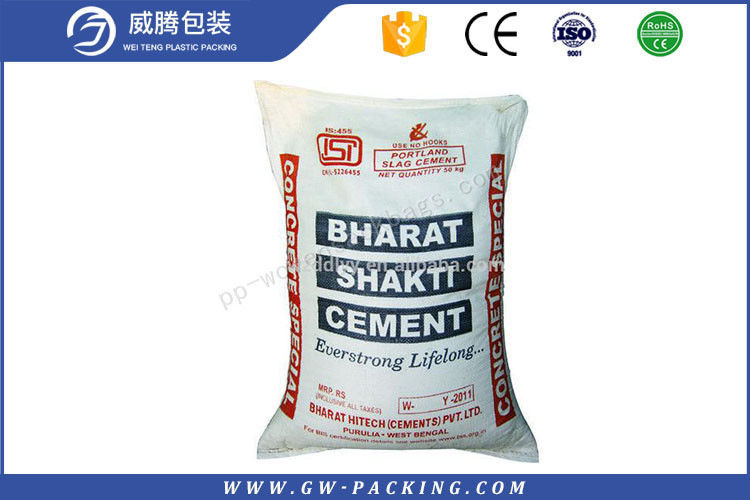 Plain Recycled Cement Bags , Ready Mix Concrete Bags With Film Or Non Film