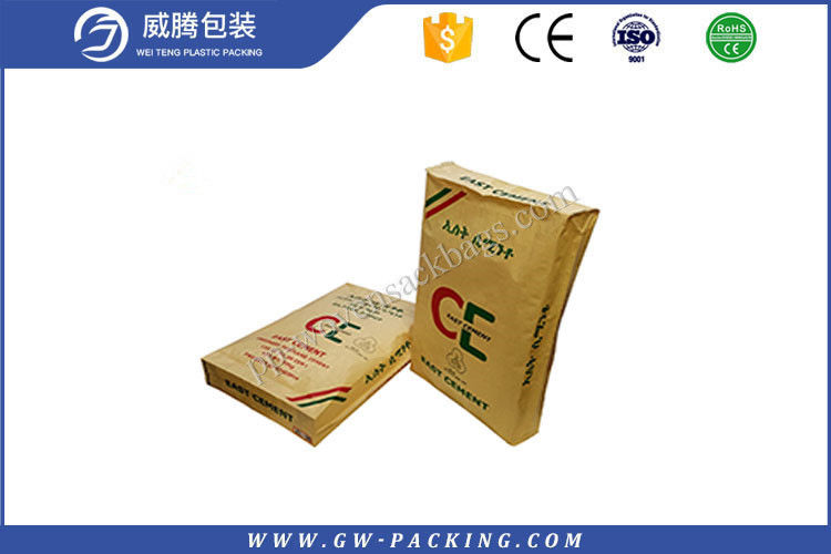High Tensile Strength Empty Cement Bags , 25kg Cement Plastic Bag With Vale