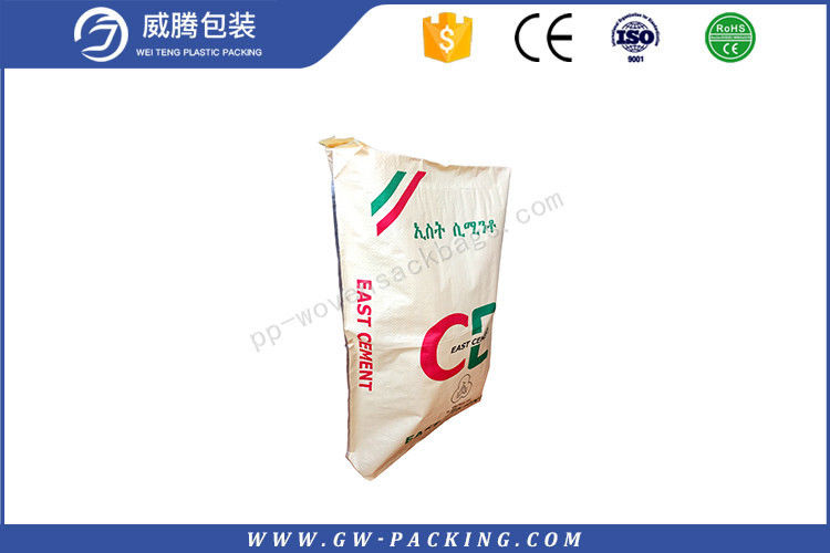 Block Bottom Polypropylene Cement Bags Vivid Printing Effect Non - Leakage